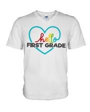 HELLO 1ST GRADE V-Neck T-Shirt thumbnail