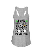 NEVER UNDERESTIMATE WITH A SENIOR Ladies Flowy Tank thumbnail