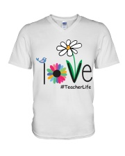 TEACHER LIFE V-Neck T-Shirt tile