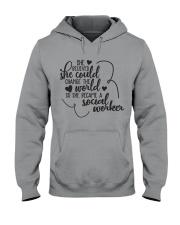 SHE BECAME A SOCIAL WORKER Hooded Sweatshirt thumbnail