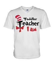 TODDLER TEACHER I AM V-Neck T-Shirt thumbnail