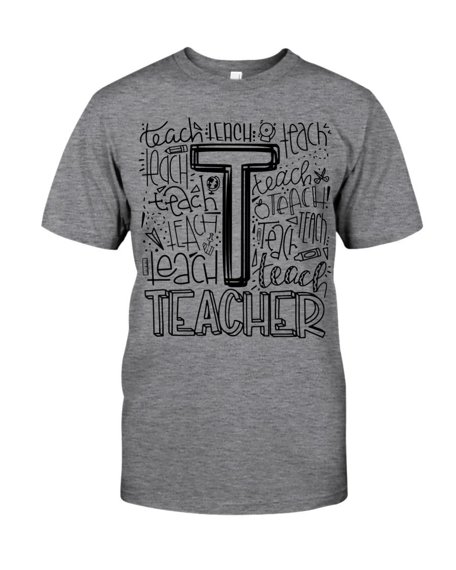 TEACHER TYPOGRAPHY DESIGN Classic T-Shirt