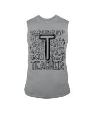 TEACHER TYPOGRAPHY DESIGN Sleeveless Tee thumbnail