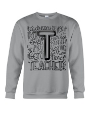 TEACHER TYPOGRAPHY DESIGN Crewneck Sweatshirt thumbnail