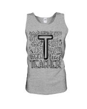 TEACHER TYPOGRAPHY DESIGN Unisex Tank thumbnail