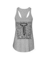 TEACHER TYPOGRAPHY DESIGN Ladies Flowy Tank thumbnail