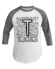 TEACHER TYPOGRAPHY DESIGN Baseball Tee thumbnail
