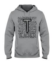 TEACHER TYPOGRAPHY DESIGN Hooded Sweatshirt thumbnail