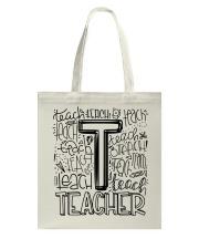 TEACHER TYPOGRAPHY DESIGN Tote Bag thumbnail
