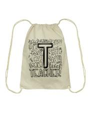 TEACHER TYPOGRAPHY DESIGN Drawstring Bag thumbnail