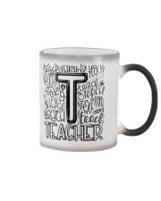 TEACHER TYPOGRAPHY DESIGN Color Changing Mug thumbnail