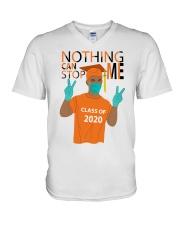 ORANGE - NOTHING CAN STOP ME V-Neck T-Shirt thumbnail