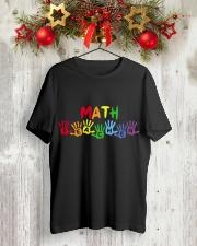 MATH TEACHER DESIGN Classic T-Shirt lifestyle-holiday-crewneck-front-2