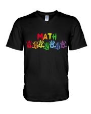 MATH TEACHER DESIGN V-Neck T-Shirt thumbnail