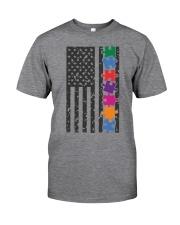 AUTISM FLAG Classic T-Shirt front
