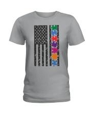 AUTISM FLAG Ladies T-Shirt thumbnail