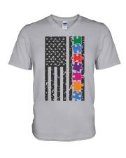 AUTISM FLAG V-Neck T-Shirt thumbnail
