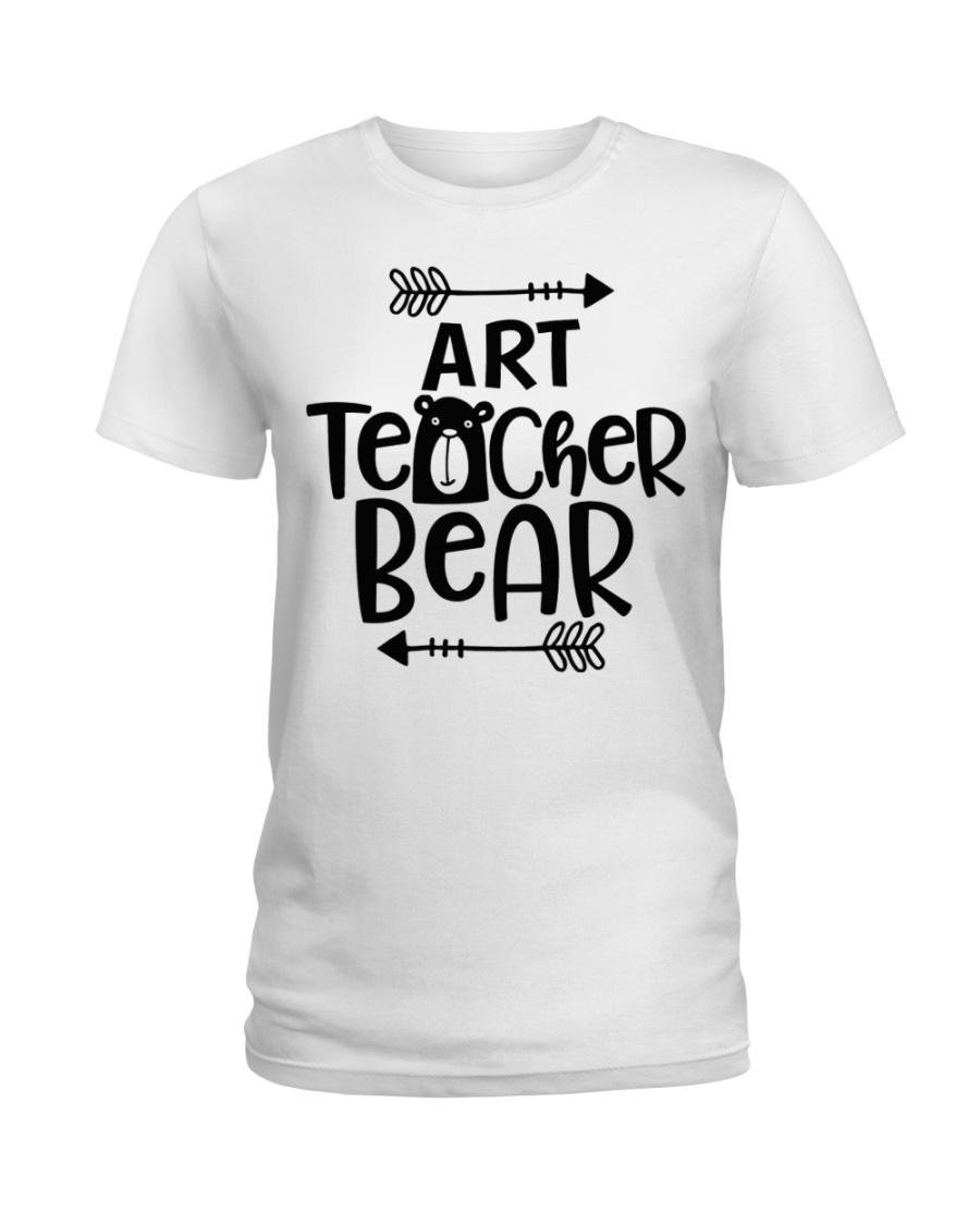 ART TEACHER BEAR Ladies T-Shirt