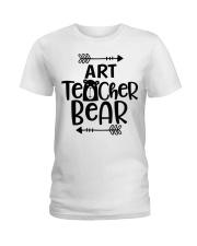 ART TEACHER BEAR Ladies T-Shirt front