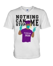 PURPLE - NOTHING CAN STOP ME V-Neck T-Shirt thumbnail