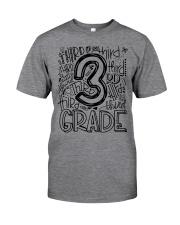 THIRD GRADE TYPO Classic T-Shirt front
