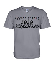 OFFICE STAFF  V-Neck T-Shirt thumbnail