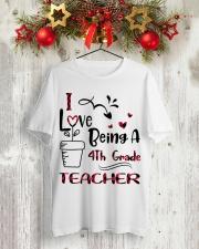 4TH GRADE TEACHER Classic T-Shirt lifestyle-holiday-crewneck-front-2