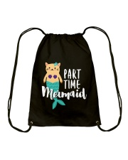 Part-Time Mermaid Drawstring Bag thumbnail