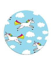 Unicorns and Clouds Circle Coaster thumbnail