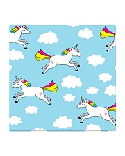 Unicorns and Clouds Square Coaster thumbnail
