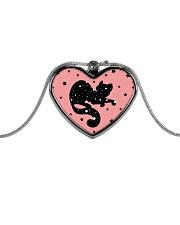Kittens and Stars Metallic Heart Necklace thumbnail