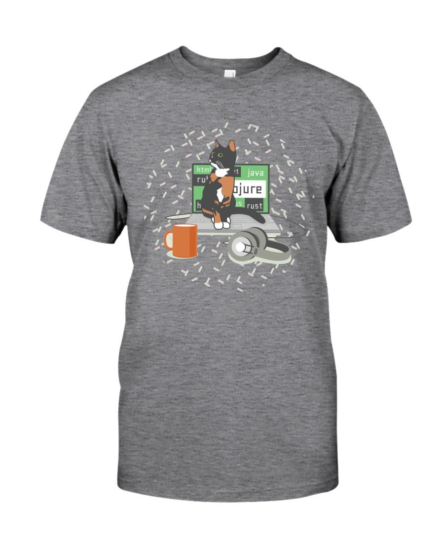 Laptop Cat Classic T-Shirt