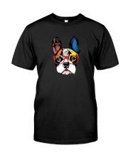 Modern Geometric Frenchie Classic T-Shirt front