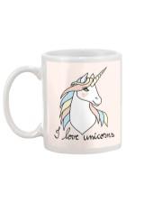 I Love Unicorns Mug back