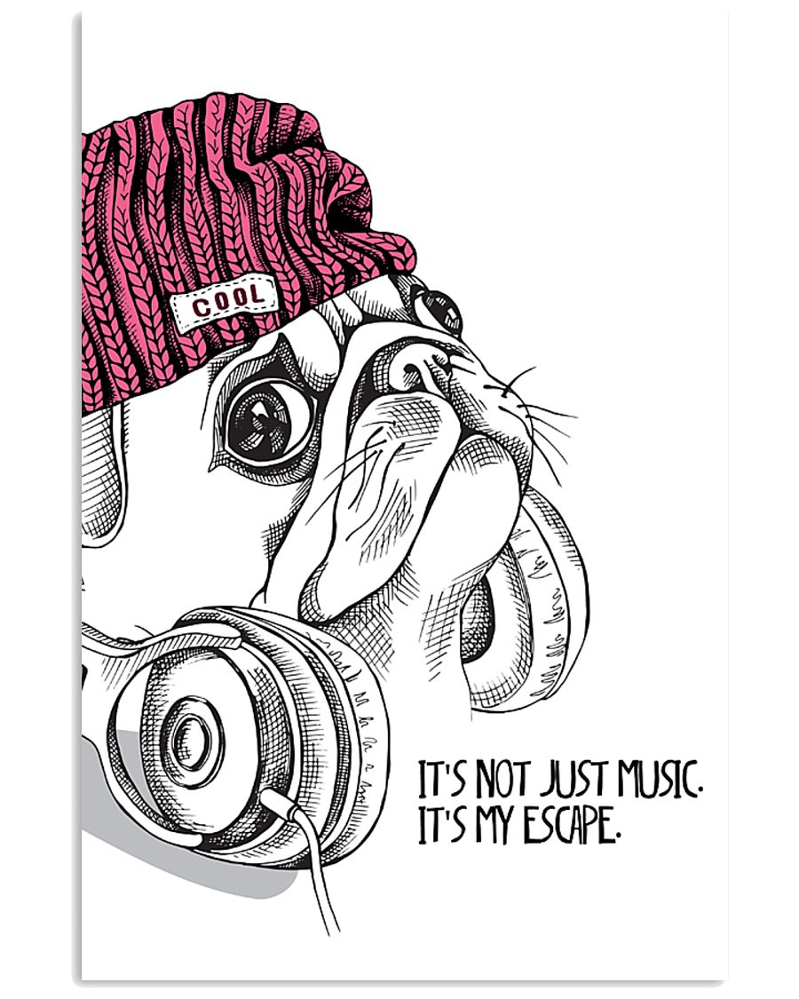 Hipster Pug 11x17 Poster