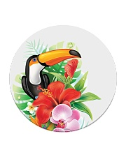 Toucan Flowers Circle Coaster tile