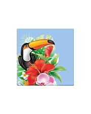 Toucan Flowers Square Magnet tile