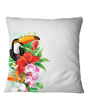 Toucan Flowers Square Pillowcase thumbnail