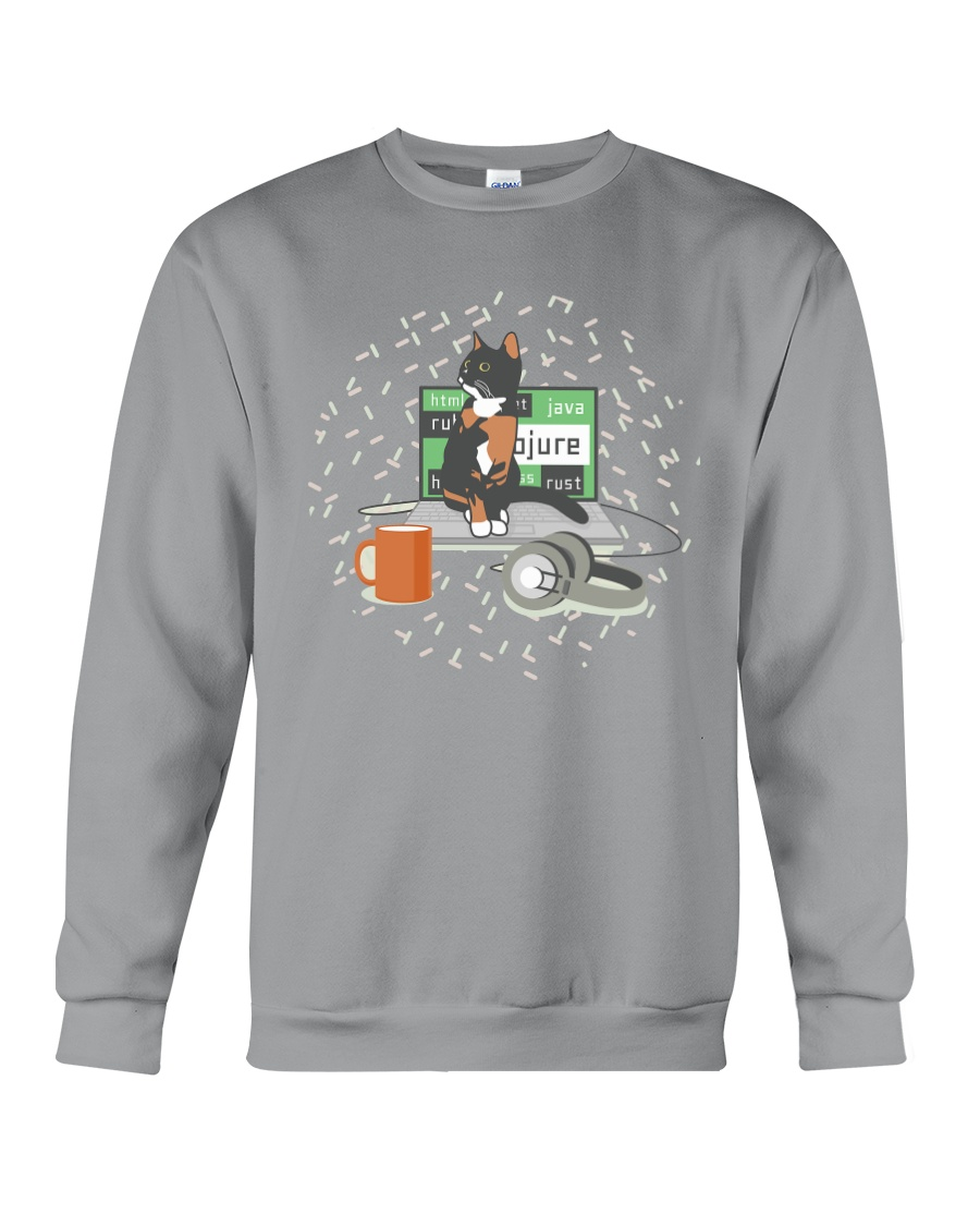 Laptop Cat 123 Crewneck Sweatshirt