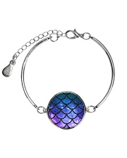 Mermaid Scales Metallic Circle Bracelet thumbnail