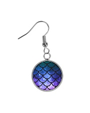 Mermaid Scales Circle Earrings thumbnail