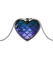 Mermaid Scales Metallic Heart Necklace thumbnail