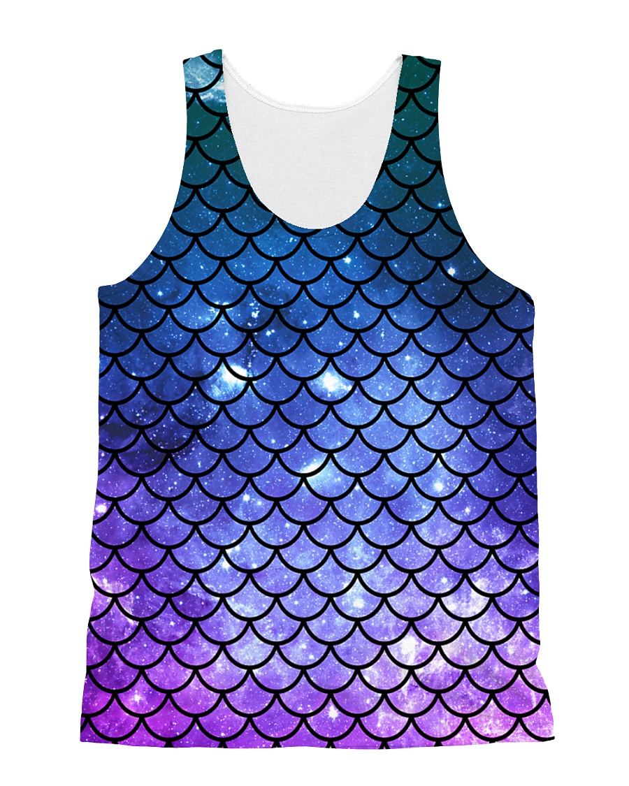 Mermaid Scales All-over Unisex Tank