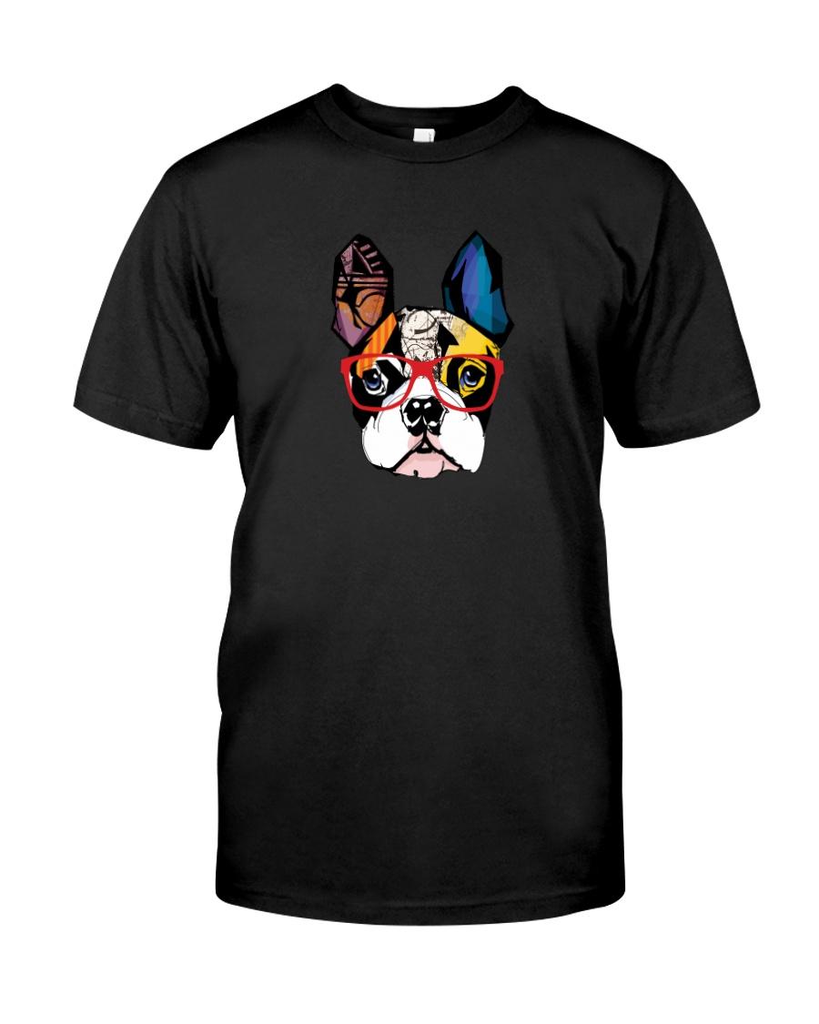 Modern Geometric Frenchie Classic T-Shirt