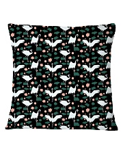 Japanese White Crane Square Pillowcase thumbnail