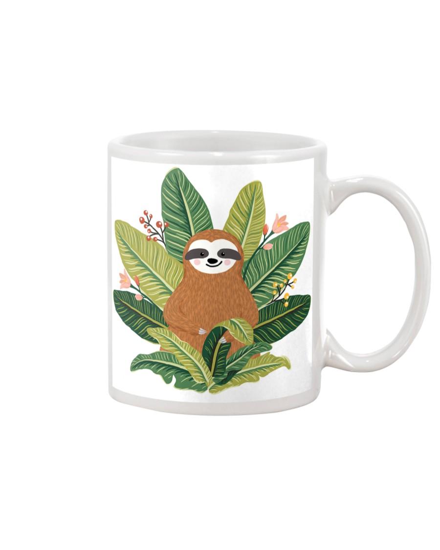 Sloth in Ferns Mug