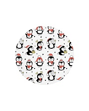 Cute Christmas Penguins Circle Cutting Board thumbnail