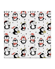 Cute Christmas Penguins Square Coaster thumbnail