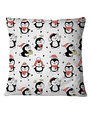 Cute Christmas Penguins Square Pillowcase thumbnail