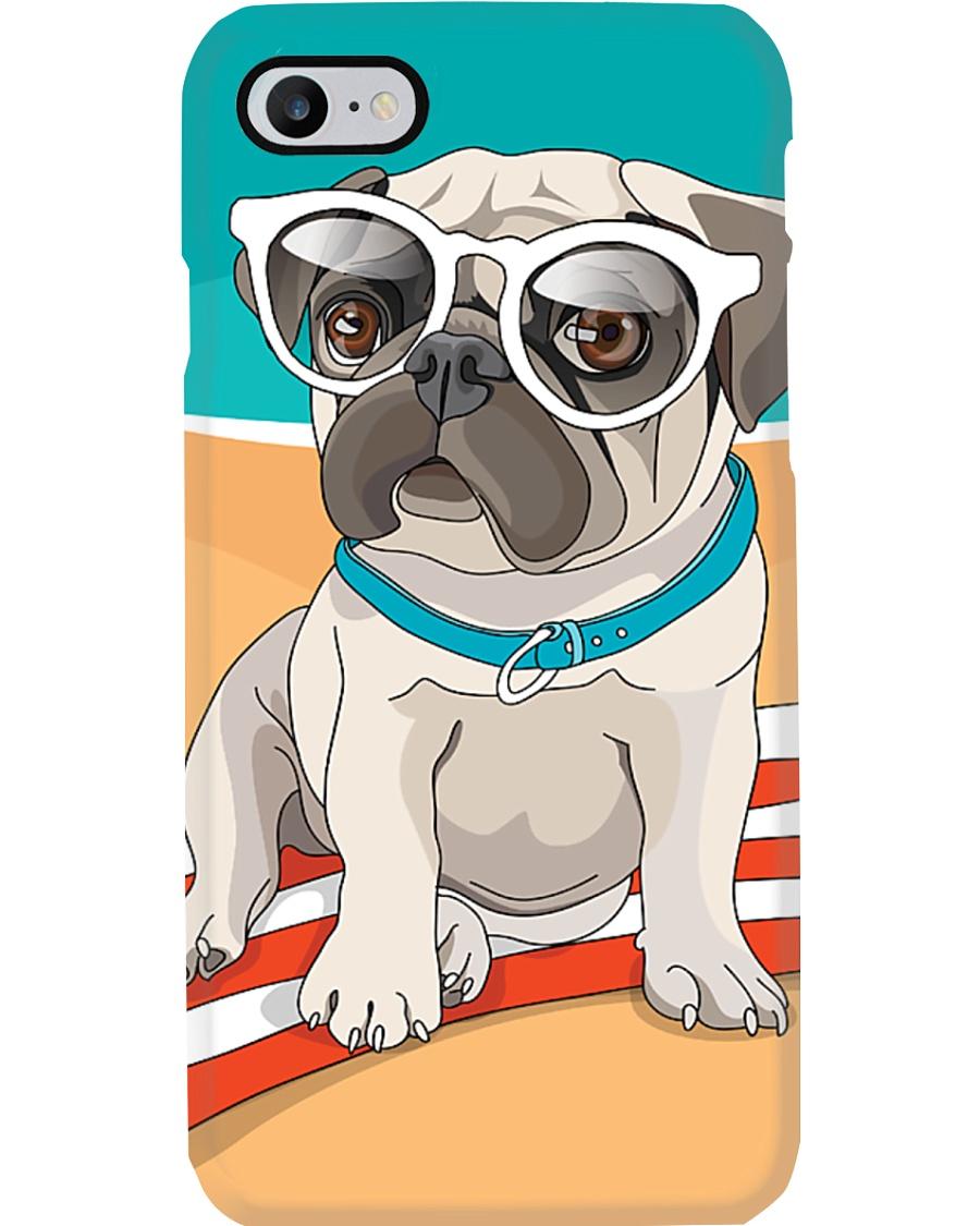 Pug at Beach Phone Case